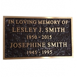 Cast Bronze Commemorative Plaque, Flower Texture