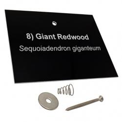 Engraved Black Aluminium Tree Label