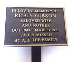 Cast Bronze Memorial Plaque 150x100mm