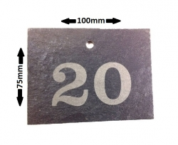 Engraved Slate Label
