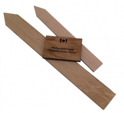 Blank Oak Stakes and Engraved Hanging Label