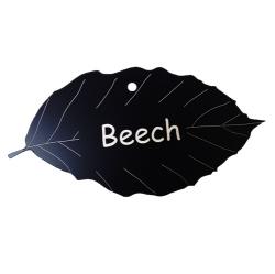 Engraved Beech Tree Leaf Label