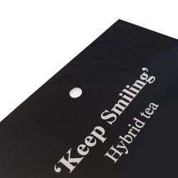 Engraved Gloss Black Aluminium Label