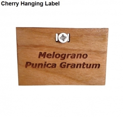 Engraved Cherry Hanging Label with Fixings