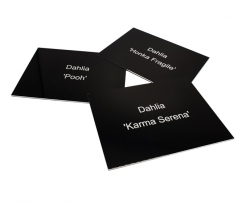 Gloss Black Aluminium Plant Labels