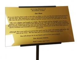 Plastic Commemorative Plaque, Gold