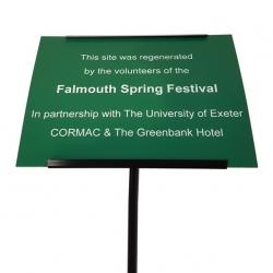 Plastic Commemorative Plaque, Green