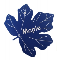 Engraved Maple Leaf Label
