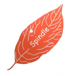 Engraved Spindle Leaf Label