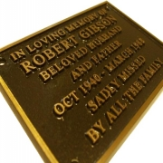 Cast Bronze Commemorative Plaque 152x102mm