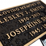 Flower Textured Memorial Plaque