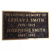 Cast Bronze Textured Nameplate
