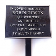 Cast Aluminium Memorial Plaque with Stake