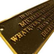 Cast Bronze with black powder coating, Metal Nameplate 200x65mm