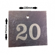 Engraved Slate Garden Labels with hole, 100 x 75mm