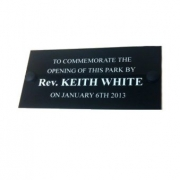 Engraved Black Plastic Bench Plaques