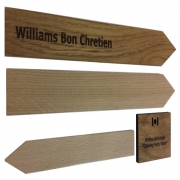 Oak Stakes with Engraved Hanging Label