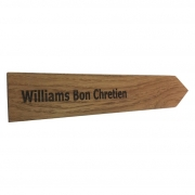 Engraved Wooden Stake - Oak (Single)