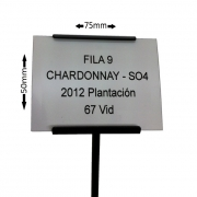 Engraved Plant Label and Label Holder