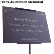 Black Anodised Aluminium Memorial Plaque