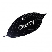 Engraved Cherry Tree Leaf Label