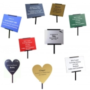 Heart-Shaped Memorial Plaque with Holder