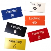 Coloured Engraved Sensory Garden Labels
