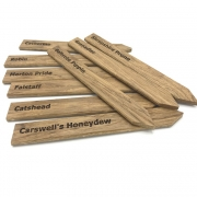 Engraved Oak Stakes
