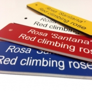 Coloured Engraved Plant Tags