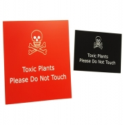 Engraved Poisonous Plant Label