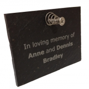 Slate Engraved Memorial with Fixings