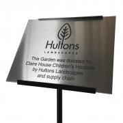 Stainless Steel Commemorative Plaque with Holder