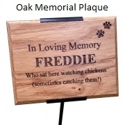 Solid Wood Commemorative & Memorial Plaque with Holder