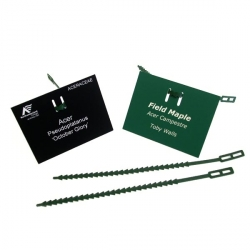 Engraved Adjustable Tree Labels with Tree Ties