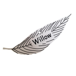 Engraved Willow Leaf Label