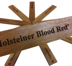 Oak Wooden Stakes Engraved