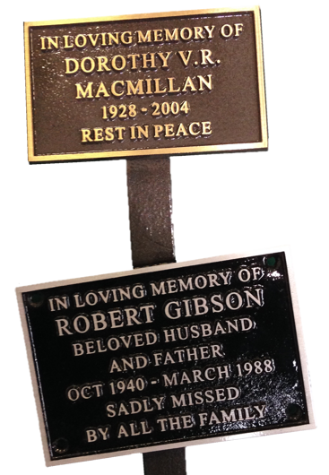 Memorial Plaques and Nameplates